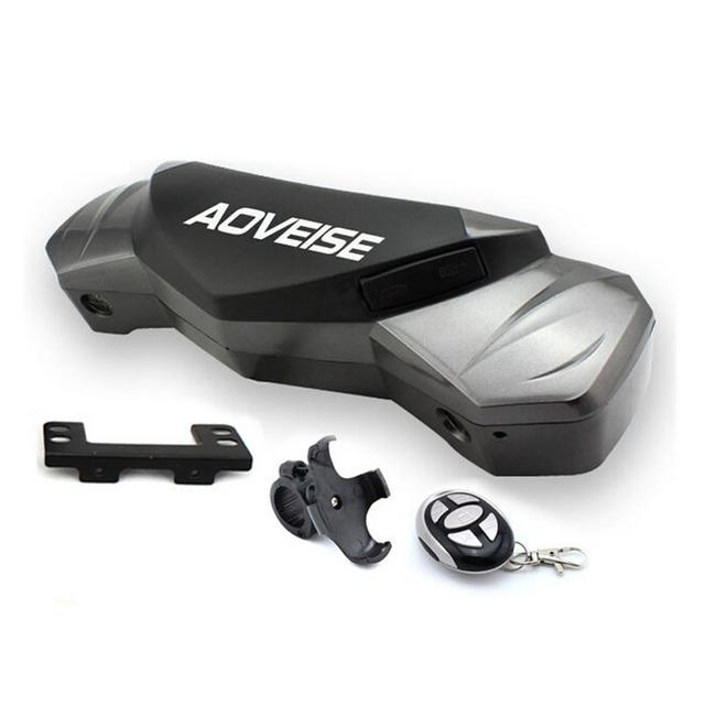 Motocicleta Faros de Reproductor de Música MP3 Con Control Remoto antirrobo resistente al Agua Altavoz Estéreo con Soporte Ajustable