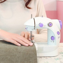 Mini Handheld Sewing Machines Dual Speed Double Thread Multifunction Electric Automatic Tread Rewind Machine