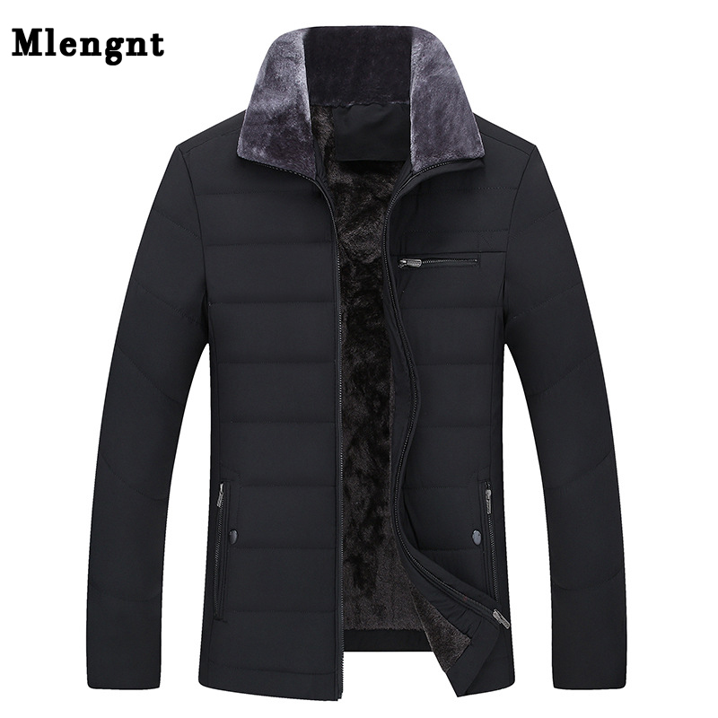Thick Jacket Business Cotton Warm Parka Winter Autumn For Men Casual Male Classic Windbreaker Long Fleece Padded Varsity Coat