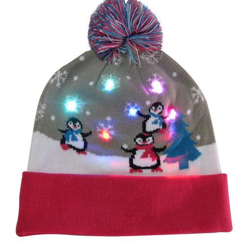 Г., 43 дизайна, светодиодный Рождественский головной убор, Шапка-бини, Рождественский Санта-светильник, вязаная шапка для детей и взрослых, для рождественской вечеринки - Цвет: 15