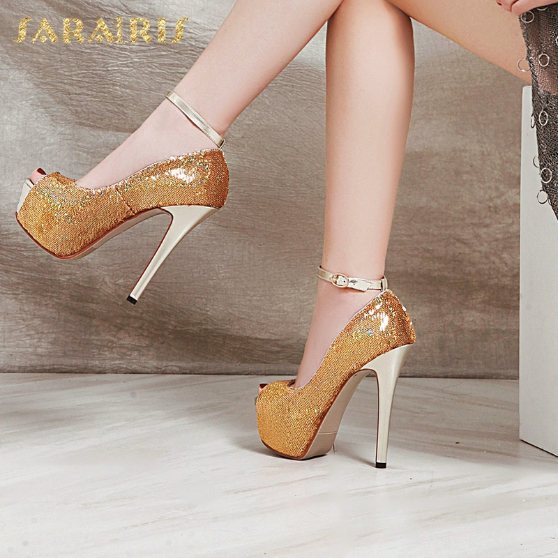 SARAIRIS Plus Size 43 Sexy Thin High Heels new Brand New Platform women's Shoes Classics Sexy Party women' S Pumps