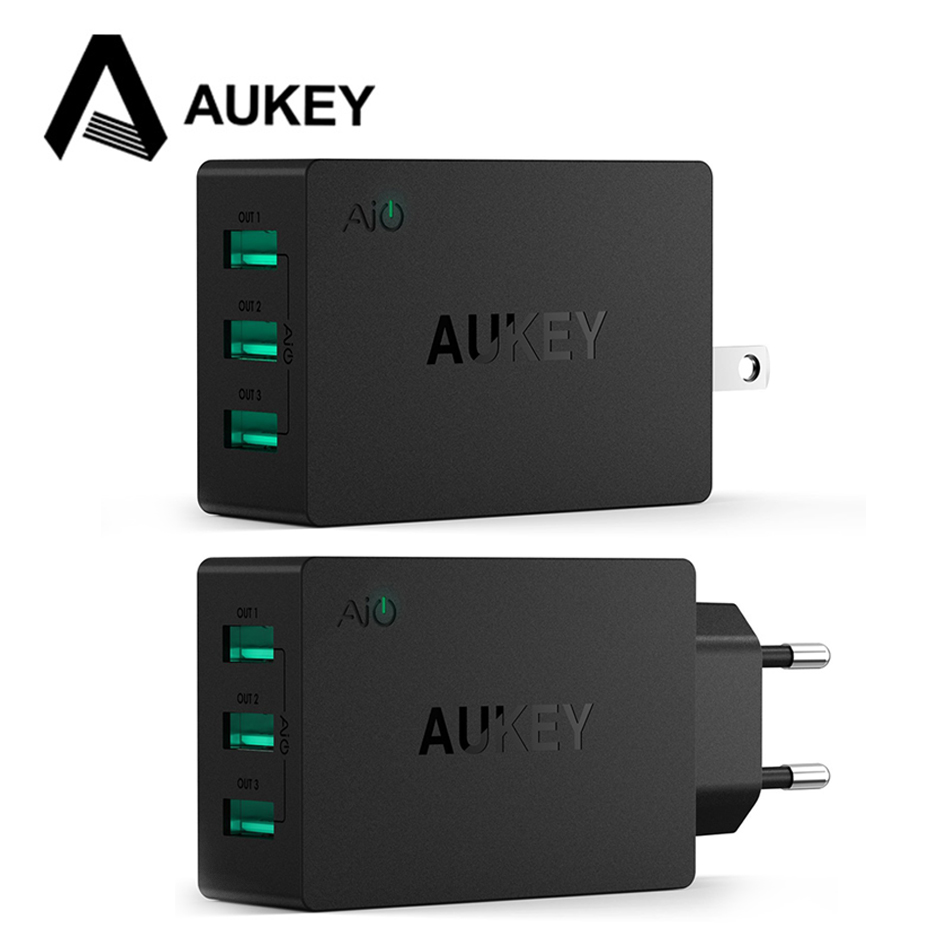 Aukey Universal Travel USB Charger Adapter 5V6A Smart Wall Es