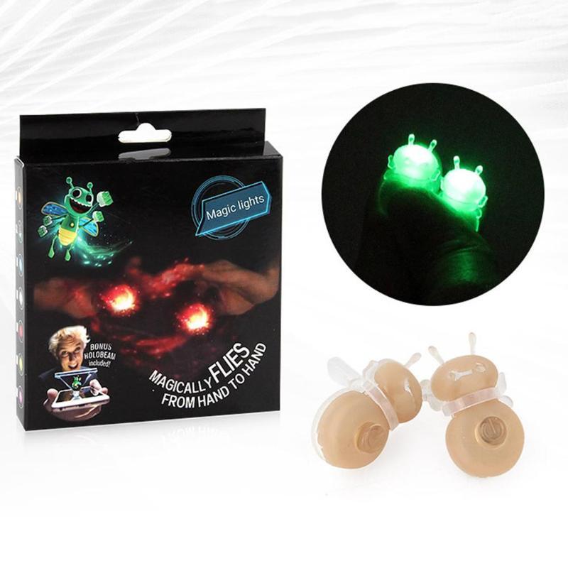3D пчела голограмма проекция Волшебные флуоресцентные пальцы светящиеся развлекательные игрушки Вспышка 3d голографические проекции Conjuring ...