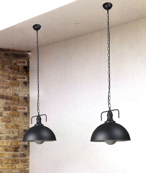 American country chandelier lamp shade single head barbershop retro fashion creative industrial lamps wrought iron dining GY144 vintage ceramic aluminum screw caps single seat head chandelier chandelier designer can be installed lantern shade accessories