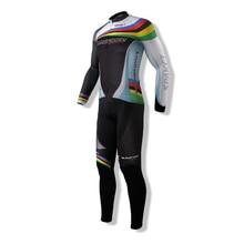 Nowy SPAKCT męska Sportowa Lato Kombinezony Rowerowe Rower Rowerowa Z Długim Rękawem Jersey Kurtka i Spodnie na szelkach 3D Pad Rajstopy odzież