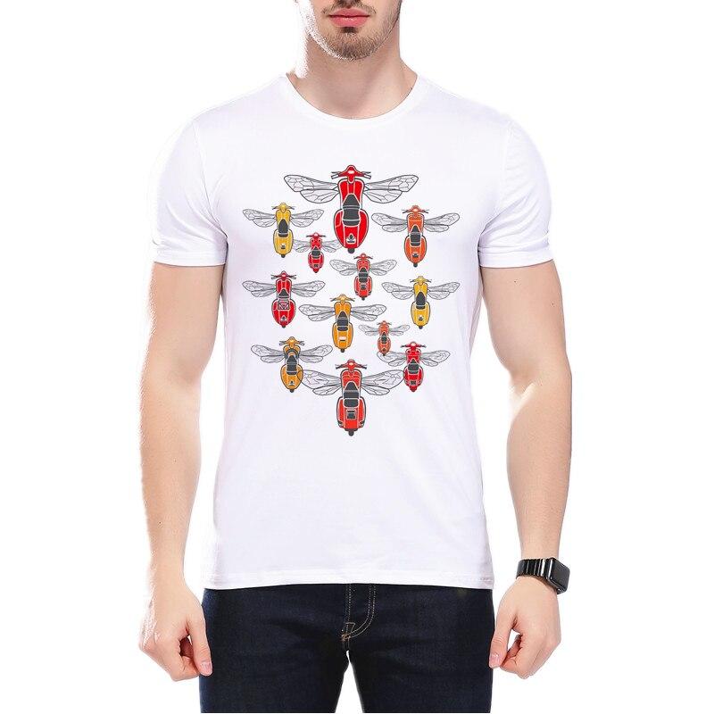 New Arrival So Many Vespa Mens Fashion T-shirts Retro Italian Moto Printed T Shirt Hipster Streetwear Casual Homme Tees L2-66