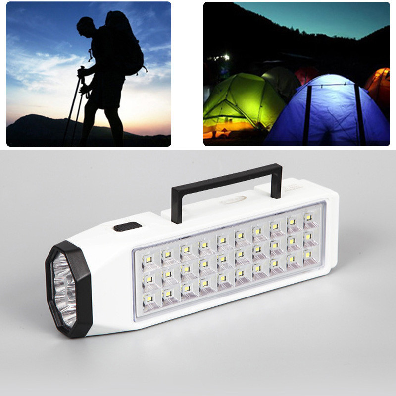 Oobest Mini 38 LED LED Rechargeable Emergency Light Lamp High Capacity Flashlight Camping Traveling Outdoor Best Quality ground lamp 50w l2 rechargeable led floodlight spotlight handle emergency flashlight mobile outdoor camping light hiking lamp