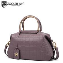 New ZOOLER Superior cowhide Genuine Leather bag fashion Crocodile luxury handbags women tote bags designer women shoulder bag