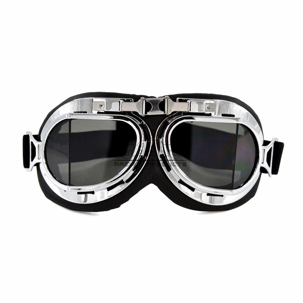 Retro Pilot Aviator Flying Goggles Vintage Motorcycle Racer Cruiser Steam Punk