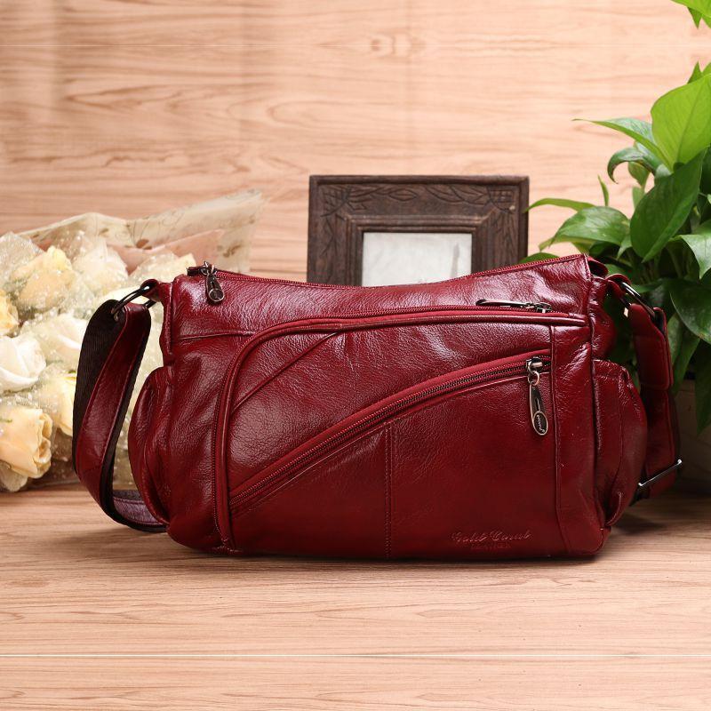 цена на Women Genuine Leather Handbags Fashion Patchwork Cow Leather Messenger Shoulder Bags Bolsas Feminina High Quality Phone Bag