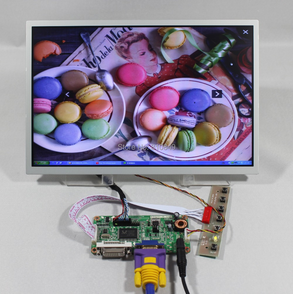 DVI+VGA LCD controller board  +12.1inch LQ121K1LG52 1280*800 lcd panel b101xt01 1 m101nwn8 lcd displays