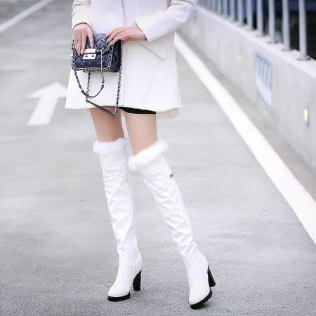 2016 חורף מגפי עקב גבוה חדשים פנאי עקבים אלגנטיים נשים סקסיות מגפי שלג חם נעלי מגפי עור עקב דק טו העגול T703-6