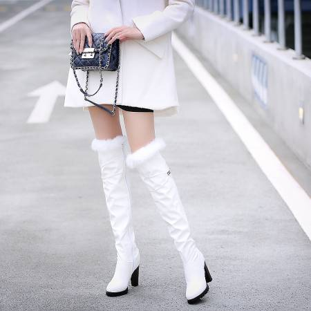 2016 Winter New High Heel Boots Leisure Elegant Heels Sexy Women Shoes warm snow Boots Round Toe Thin Heel Leather Boots T703-6 недорого