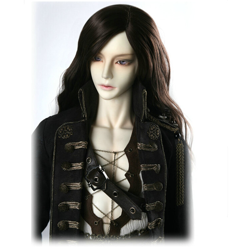 1/3 1/4 SD Bjd Doll Wigs Beautiful Long Wavy High Temperature BJD Wig,FashionDoll Hair Accessories Two Colors for Choice fashion black hair extension fur wig 1 3 1 4 1 6 bjd wigs long wig for diy dollfie