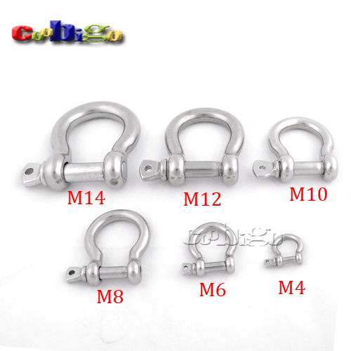 2pcs M4~M14 Stainless Steel Dog Anchor Bow Shackle Screw Pin ...