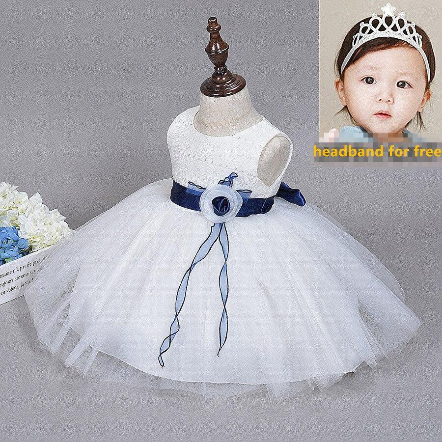 31d8f522e White Newborn Dress Summer Lace Christening Gowns 1 Year Girl ...