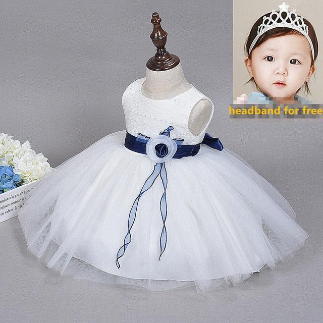 0da52010db1e White Newborn Dress Summer Lace Christening Gowns 1 Year Girl Baby Birthday  Dress Infant Flower Girl