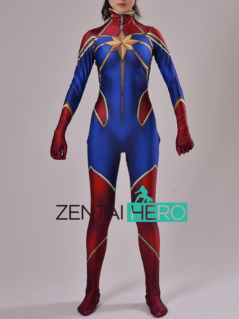 captain marvel zentai
