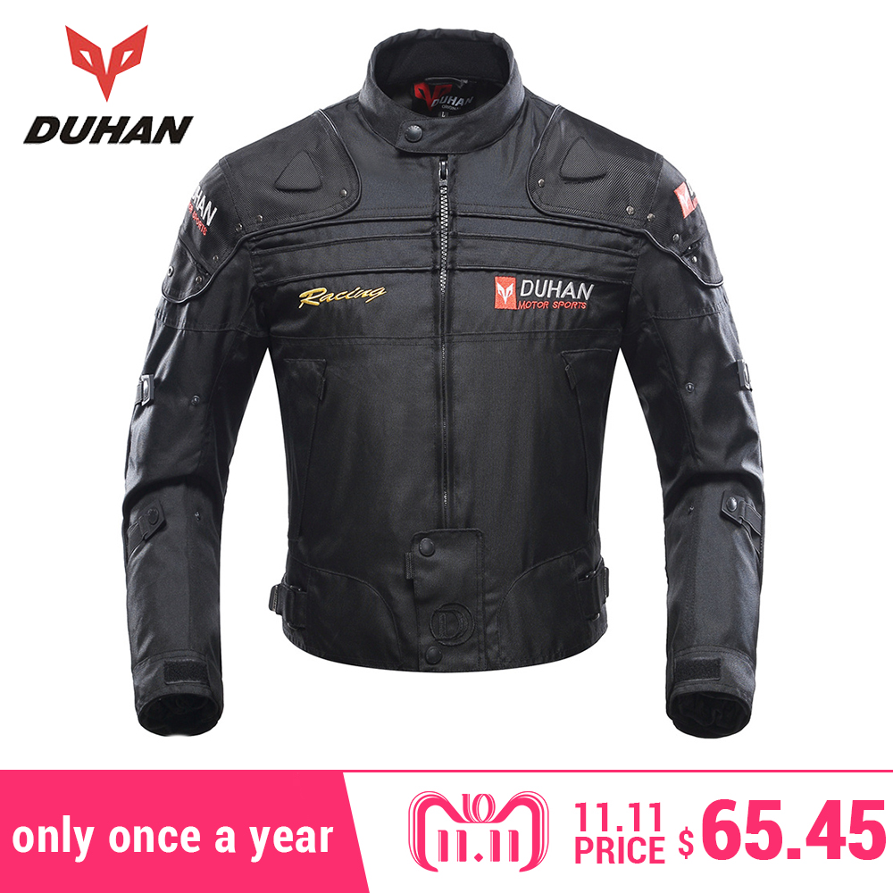 DUHAN Motorcycle Jackets Men Motocross Off-Road Racing Body Armor Protective Moto Jacket Motorbike Windproof Jaqueta Clothing цены