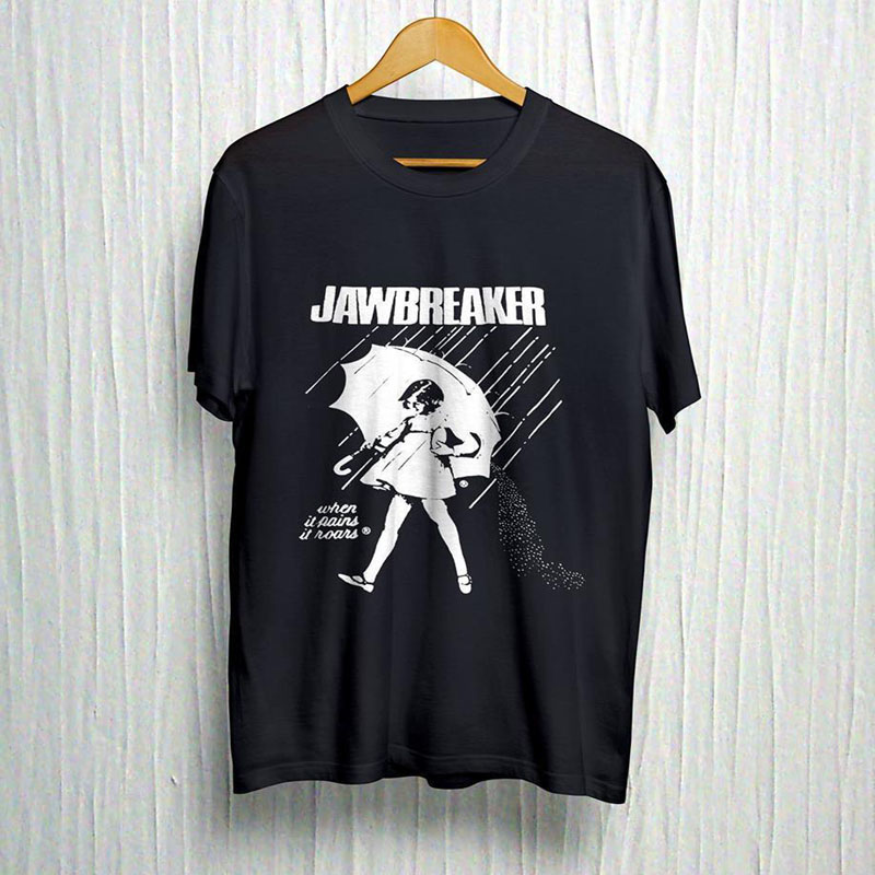 226104e0bb1c Jawbreaker morton salt girl when it pains it roars1 HOT NEW T shirt BLACK  @TX@#$