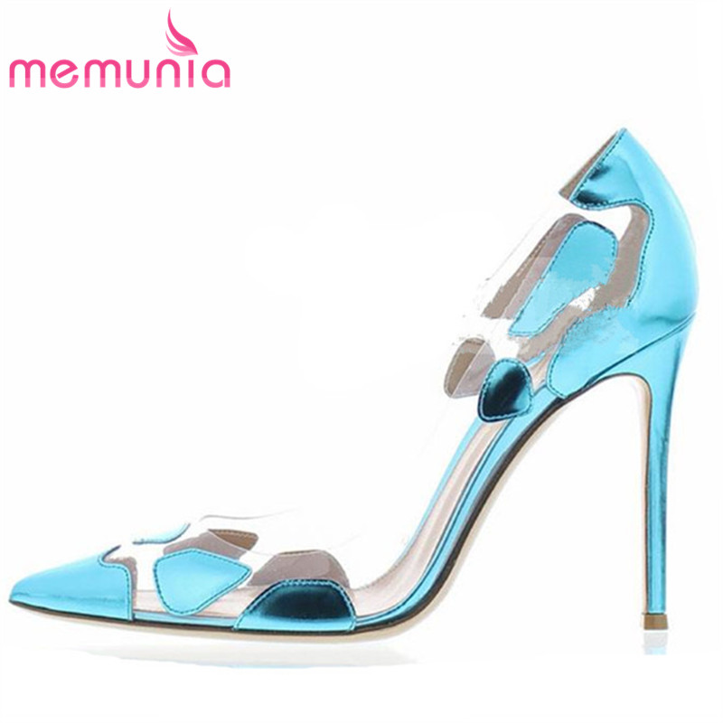 MEMUNIA 2017 new arrive women pumps fashion simple pointed toe spring autumn single shoes elegant ladies prom shoes memunia 2018 new arrive women pumps