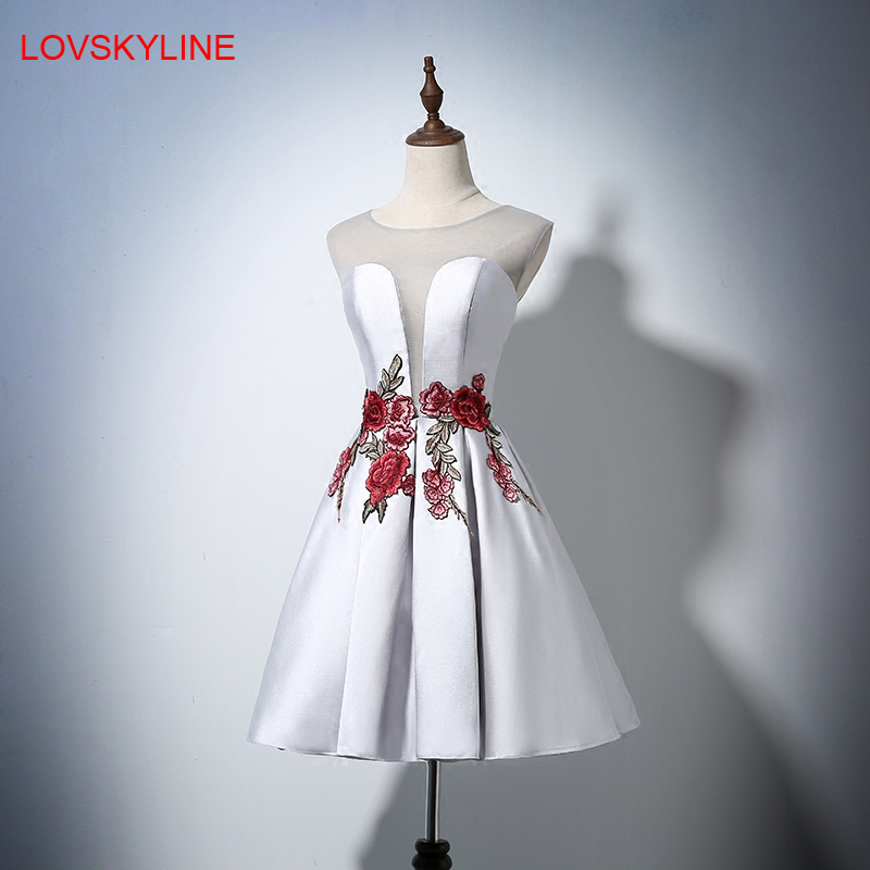Short   Bridesmaid     Dresses   Pretty Off the Shoulder O-neck Appliques Fashion Prom   Dresses   2018 New