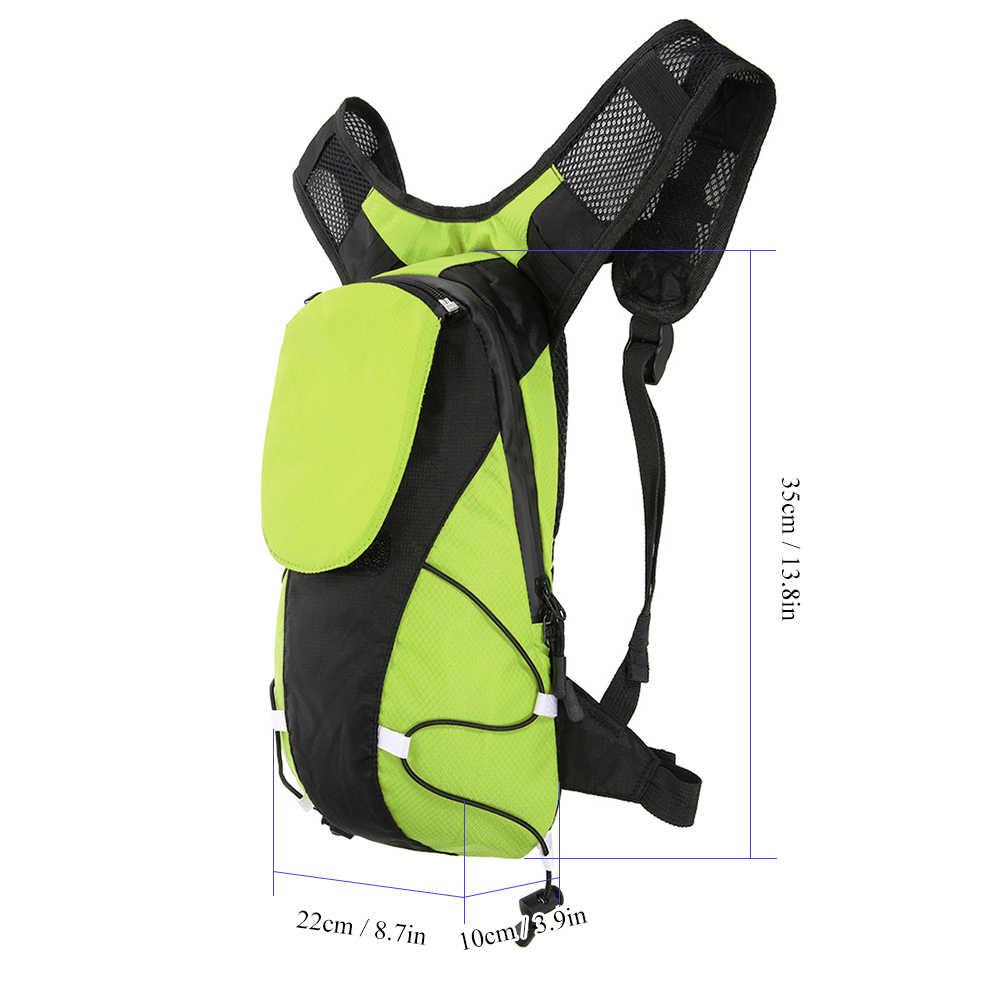 Lixada 5L USB Recarregável Mochila Reflexivo com Luz LED de Sinal Saco de Desporto Ao Ar Livre Segurança Engrenagem para Walking Jogging