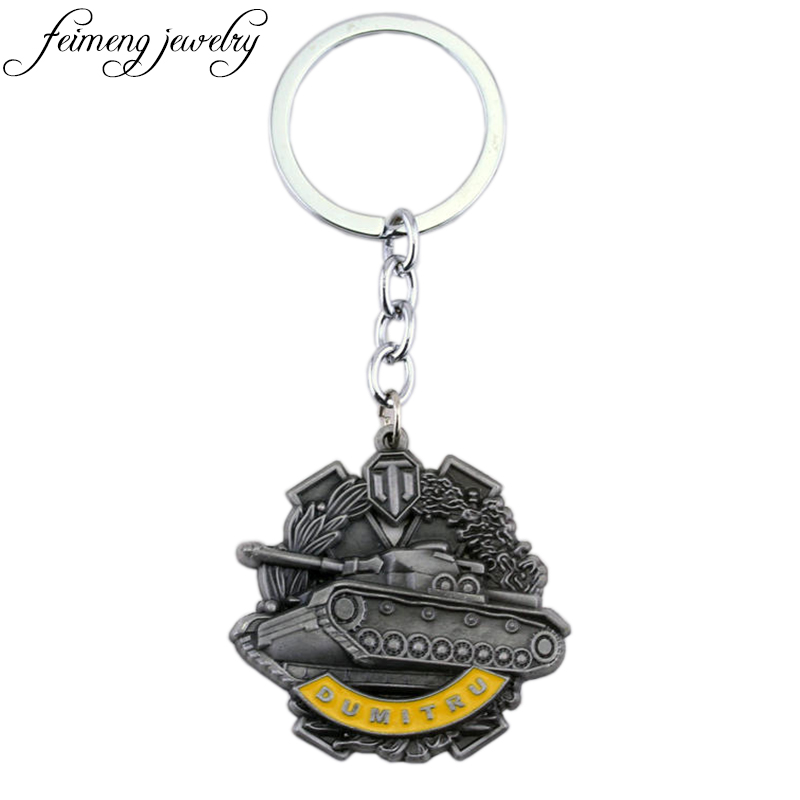 feimeng jewelry Online Game World of Tanks Keychain High