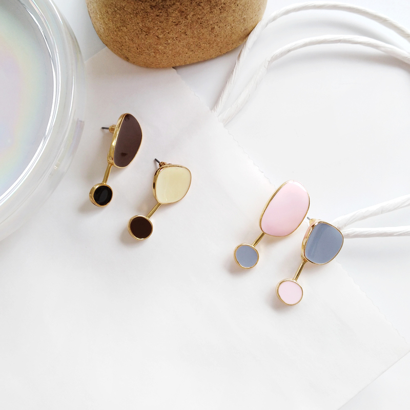 Contracted temperament new earrings bump color female  earrings irregular earrings earrings restoring ancient ways 5