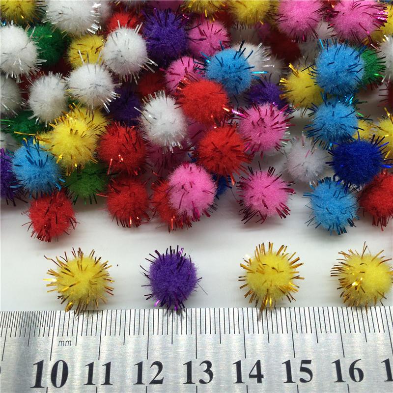 Plush Bal l 25g Chenille Stems Bendaroos Christmas Plush Ball Hair Root Diy Children Toys Wholesale Pompom Wedding Decoration