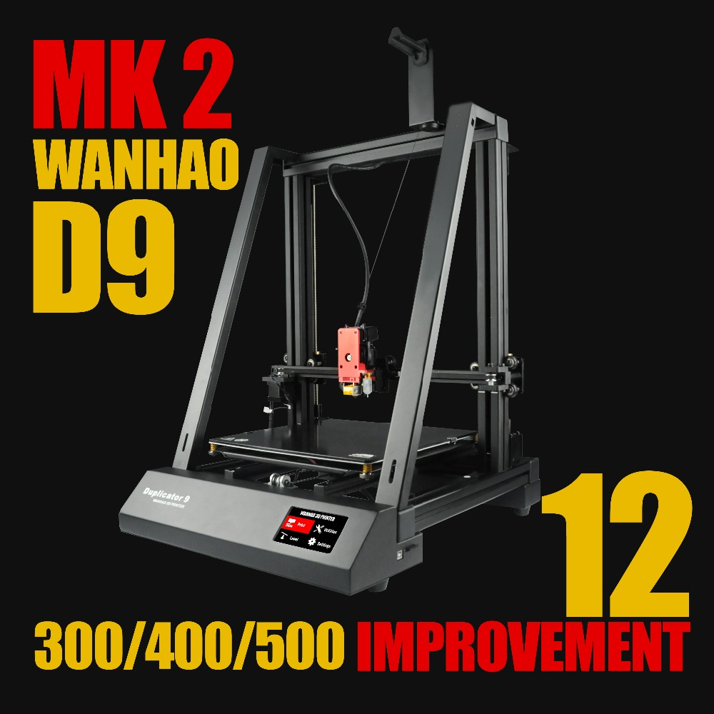 2019 Newest WANHAO Duplicator 9/400 Mark2 3D Printer With Auto Leveling resume printing and bigger printing size