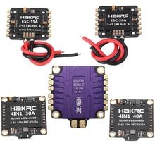HAKRC 15A/20A/30A/40A/50A 4In1 50A 3 6S BLHeli_32 5V 3A BEC Dshot1200 Mini boyutu ESC DIY Quadcopter için FPV yarış Drone