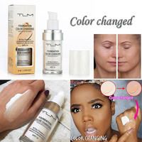Foundation Color Changing All Day Flawless Liquid Foundation Waterproof Makeup Base Nude Face Cover Concealer for All Skin Types Health & Beauty