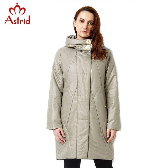 Astrid 2019 Новинки пальто для женщин Весной Куртка Повседневная Мода Женщины Куртка Высокого Качества Женщины С Капюшоном Пальто Марка Куртка Плюс Размер 5XL AM-2305