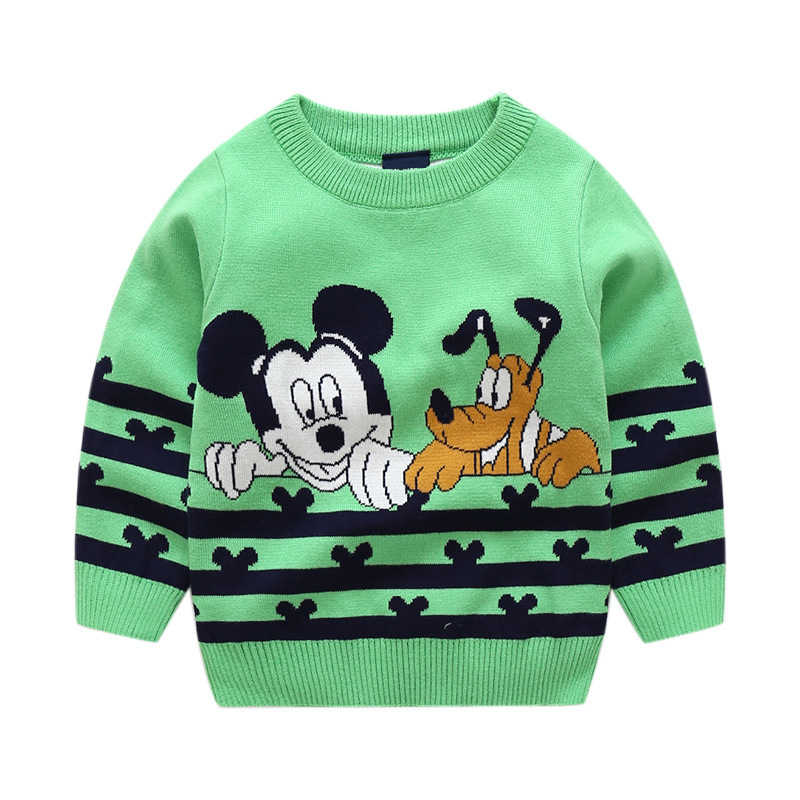 dc35821a1 ... Child Mickey Sweater Baby Kids Girls Clothes Toddler Boy Sweaters Winter  Cartoon Mickey Mouse Designer Sweaters ...