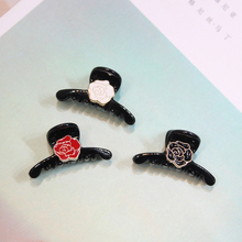 Korean New 1PC Mini Small Hair claw High Quality Black rose  Flower Side Clip Kids Hairpin Women Girls Children Accessories