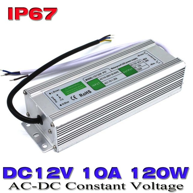 Dc12v 10a 120w waterproof ip67 led power supply ac100 240v to dc 12v dc12v 10a 120w waterproof ip67 led power supply ac100 240v to dc 12v output led workwithnaturefo