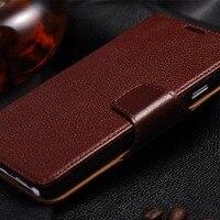 Para Samsung NOTA 3 Caso com Portadores de Cartão de Couro Genuíno Saco Carteira de Couro Suporte Flip Phone Capa Protetora Frete Grátis
