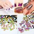 1 пакета(ов) плоские хамелеон красочные блестящие стразы акриловые уф-гель ногтей украшения 3D ногтей стразы 10 размеры горячая распродажа