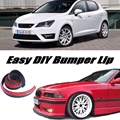 Bumper Lip Deflector Lips For SEAT Ibiza 6K 6L 6J Front Spoiler Skirt For TopGear Friends to Car Tuning View / Body Kit / Strip