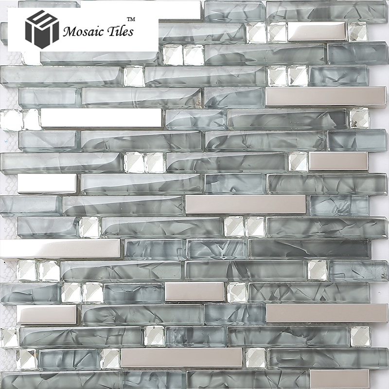popular grey glass tile backsplash buy cheap grey glass