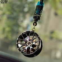 car fashion Ornaments BBS shock absorber hub cool rearview mirror holder styling be different