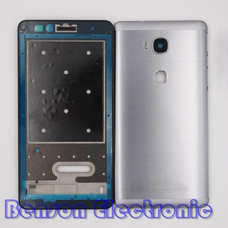imágenes para BaanSam Nueva Holder LCD Marco Frontal 5X Batería de La Contraportada Para Huawei Honor Caso de Vivienda Con la Lente de la Cámara + Power Botones de volumen