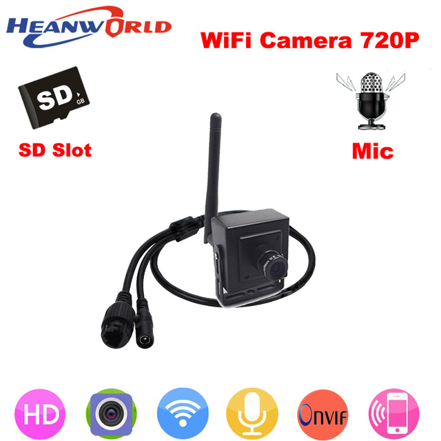 Heanworld 720P IP camera wireless microphone P2P cam HD wifi camera cctv security system with audio for home security IP cam