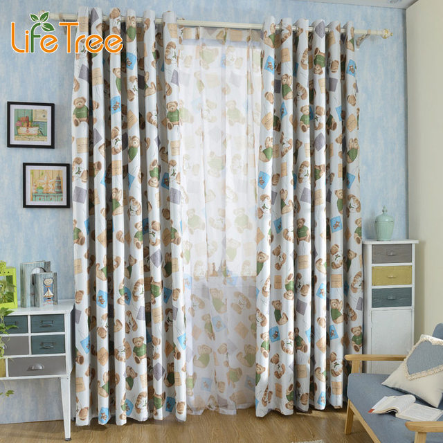Curtains Ideas bedroom drapes and curtains : Aliexpress.com : Buy Cute Bear Printed Children Blackout Curtains ...