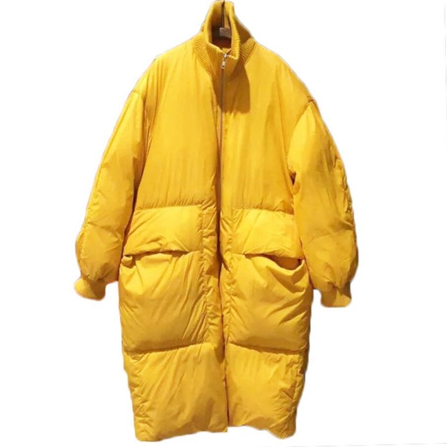 Fashion   Down     Coat   Winter 2018 New Casual   Down   Jacket Women   Down     Coat   Long Loose white duck