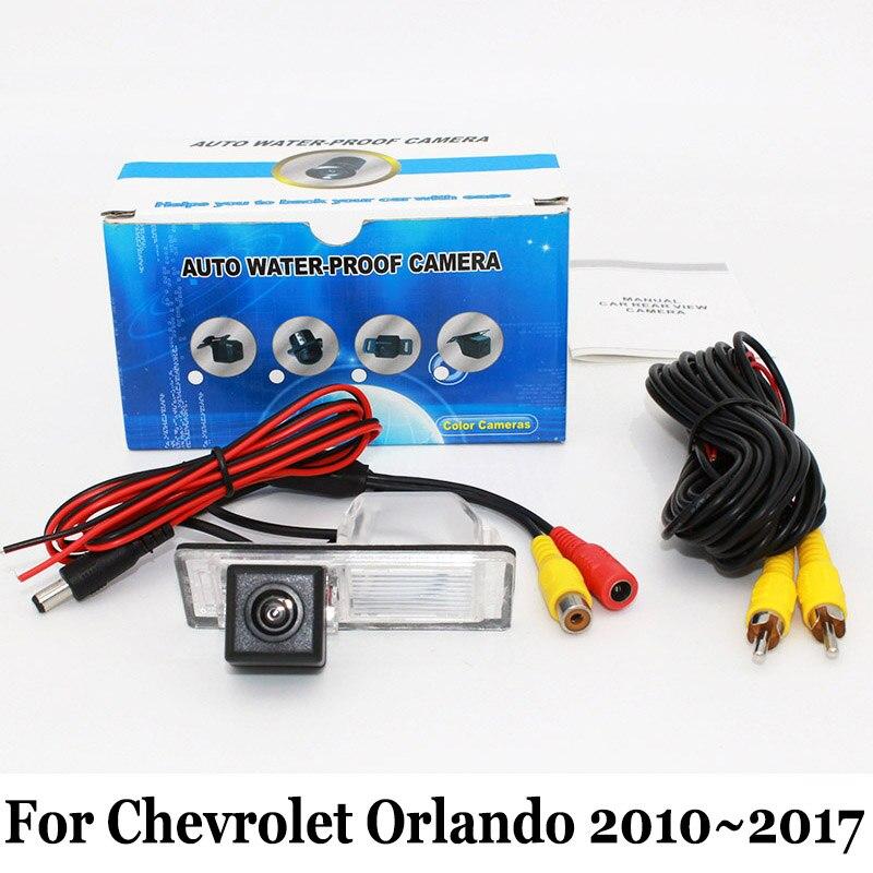 imágenes para Cámara de Estacionamiento del coche Para Chevrolet Orlando 2010 ~ 2017/RCA Cable AUXILIAR o Cámara Inalámbrica/HD CCD de Visión Nocturna Cámaras de Visión Trasera