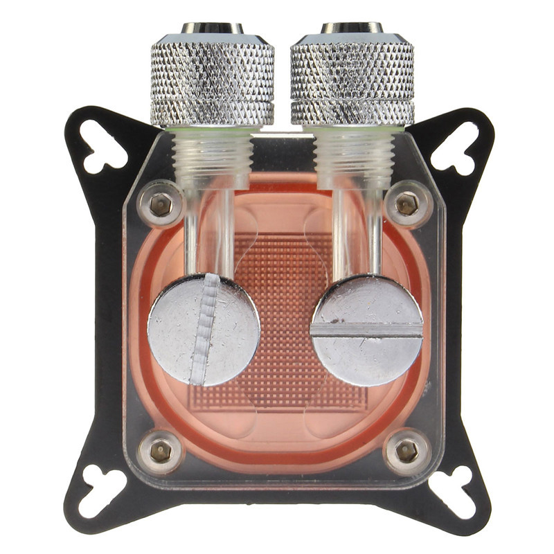 Water Cooling Block Copper for Computer PC GPU 4 Hole Compression Fitting Liquid Cooler G1/4 W41 Water-based Cooler Waterblock stainless steel water cooling waterblock buckles heatsink block liquid cooler for cpu gpu laser head industrial control cabinet