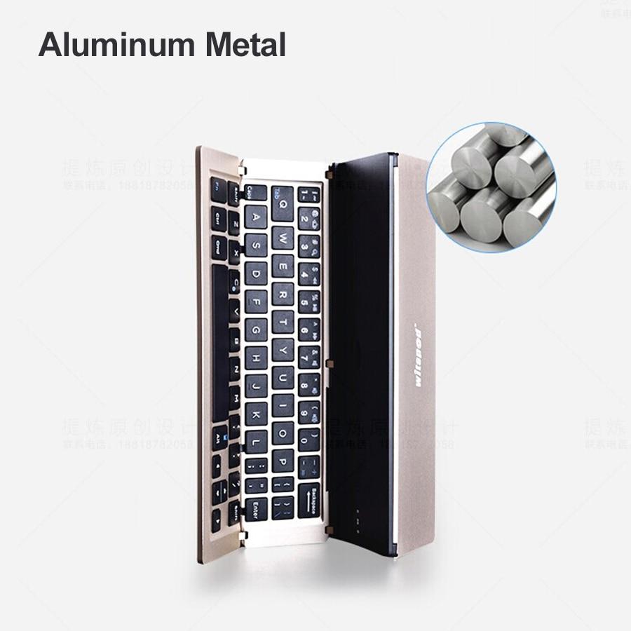 witsp @ d Universal Metal Qatlanan Bluetooth Klaviatura, Android IOS - Planşet aksesuarları - Fotoqrafiya 5