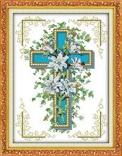 Креста ( 2 ) ( лили хлопок комплекты DMC 14ct белый 11ct печать на холсте вышивка комплект швейная ручная работа ремесла домашнего декора